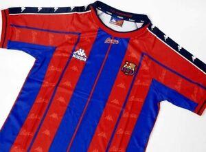 Retro Barcelona Home Kit 1997-98 Football Shirt Soccer Jersey Vintage
