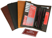 RFID Security Blocking Safe Leather Wallet Checkbook Cover 8 ID Credit Card New