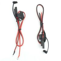 Foxsur 2Pcs Motorcycle Battery Charger Sae Charging Cable Sae Quick Disconn R7U6