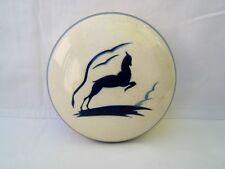 ancienne bonbonnière céramique craquelée art déco décors biche Charles Catteau