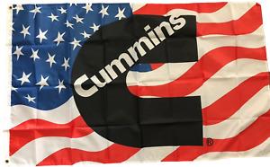 Cummins 3 x 5 Banner Turbo Diesel Engine 3X5 Flag Fast US Shipper New
