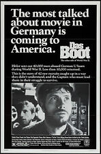 DAS BOOT/THE BOAT original WORLD WAR 2 SUBMARINE movie poster JURGEN PROCHNOW
