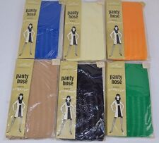 Vtg 1960's Lot of 6 Spellbound Fishnet Stripe Pattern Pantyhose Average - Nos