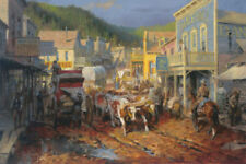 Gold Town by Andy Thomas Western Print 17x12