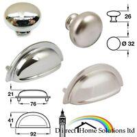 Hafele Henrietta Cup Pull Handle / Oriel Knob Kitchen Bedroom Cabinet Drawer