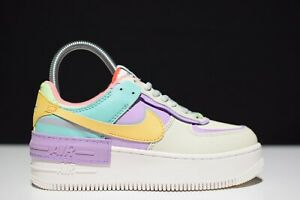 Nike Air Force 1 Shadow Pastel Multi Ivory CI0919-101 Womens Trainers All Sizes