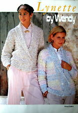 "Wendy Knitting Pattern Booklet - LYNETTE - 12 Designs 30 to 42"" Bust - VGC"