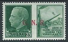1944 RSI PROPAGANDA DI GUERRA 25 CENT BRESCIA III TIPO MH * - ED832-2