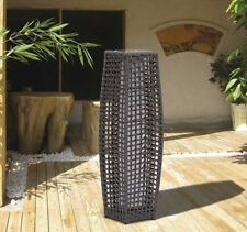 Outsunny Garden Rattan Lamp Wicker Hand Crafted Solar LED Outdoor Light Coffee