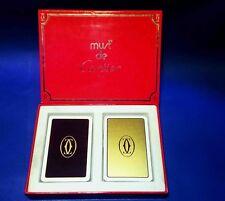 Le Must de Cartier PLAYING CARDS 2 mazzi di carte Set  ref 72112131