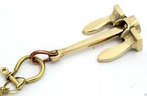 Design NAUTICAL brass SHIP ANCHOR HANDCUFF KEY CHAIN RING-key holder Best Gift