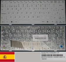 Teclado Qwerty Español MSI Wind U135 U160, V103622BK1 S1N-1EES3D1 Blanco