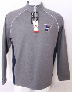 NEW Saint St. Louis Blues Hockey Antigua 1/4 Zip Pullover Jacket shirt Men's L