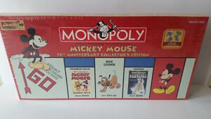 2004 Mickey Mouse 75th Anniversary Monopoly Board Game NIP VHTF Parker Brothers