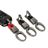 Hand Woven Horseshoe Buckle Waist Hanging Keyrings Keychain Car Key Holder