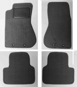 New! 1996 - 2018 Audi A4 Custom Fit Carpet Floor Mat Set of 4 BLACK w/ Heel Pad