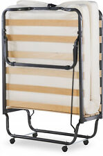 """Rollaway Cot-Size Bed with 4.5"""" Memory Foam Single Mattress Durable Steel Frame"""