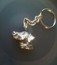 DOG UNIQUE REALISTICALLY CAPTURED WEIMARANER KEY CHAIN /PENDANT STERLING SILVER