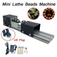 100w 110v Mini Lathe Beads Polisher Machine Wood Lathe Diy Bench Lathe Tool Us