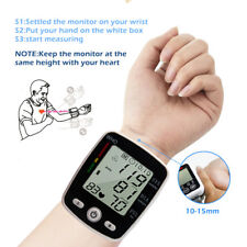 FREE POST- RECHARGEABLE BLOOD PRESSURE MONITOR WRIST AUTOMATIC PULSE RATE HEART*