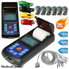Portable ECG EKG Machine 12 Leads Electrocardiograph 1 Channel Printer ECG80A