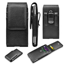 Cell Phone Holster Pouch Leather Wallet Rfid Card Holder Case with Belt Loop