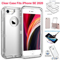 For iPhone SE 2020 6s 7 8 Plus Clear Case Heavy Duty Shockproof Hard Armor Cover
