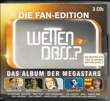 3 CD Jennifer Rush, Joe Cocker, Lena `Wetten, dass? Die Fan-Edition` Neu/Neu/OVP