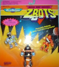 Galoob Micro Machines Radical Robot Zbots 1992 and 1993 Brand new on cards