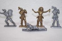Lot  de 6 figurines CAFÉ LEGAL Indiens d'amerique en plstique 6cm