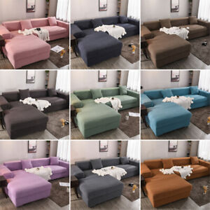 Stretch Slipcover 1 2 3 4 Seater Sectional Corner Sofa Couch All Cover