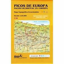 Map Picos De Europa Spain, Western Massif, El Cornion - walking hiking GPS