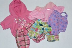 Build a Bear Clothes Lot Shorts Limited Too BABW Hoodie Bathing Suit Pink Skirt