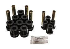 Energy Suspension Leaf Spring Bushing Set Black Front for Chevrolet # 3.2130G