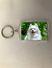 Dog Keychain Key Chain American Eskimo