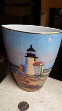 Goebel Artis Orbis Vase Brant Point Light Lighthouse 126778 NIB RR Dunlay