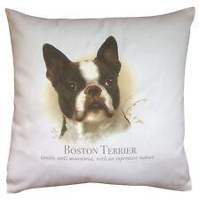 Boston Terrier Dog   100% Cotton Cushion Cover & Zip   Howard Robinson   Gift