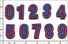 "100 Pcs Embroidered Iron on patch Letter Number Height 1.3"" AP025nE"