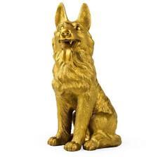 China Bronze Copper fengshui Zodiac Animal Dog Wolf dog Statue Sculpture