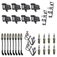 8 Plug Wires w//Heat Shields 8 4469 Spark Plugs 8 ADP D513A Ignition Coils