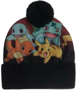 Pokémon Group Sublimated Satin Pom Beanie Cap Winter Hat Skully. SHIPS FAST!!
