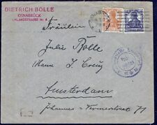 1260 GERMANY TO NETHERLANDS CENSORED COVER 1917 OSNABRUCK - AMSTERDAM