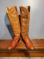 M.L. Leddy Full Quill Ostrich Womens Boots size 7B