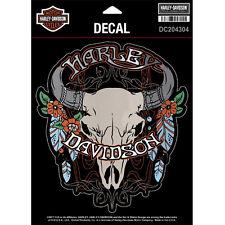 "Harley-Davidson Aufkleber, Decal ""STEER SKULL"" Sticker, Ochsenkopf *DC176683*"
