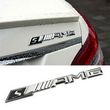 S Type AMG Decal Rear Silver Badge Sticker Emblem 3D High Quality For Mercedes