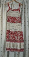 Monsoon ~ Strappy Floral Cotton Summer Dress ~ Size 10