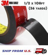 3M VHB Double Sided Foam Adhesive Tape 5952 Automotive Mounting 1/2