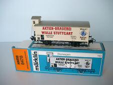 """Hamo / Märklin H0 Bierwagen """"Wulle Stuttgart"""" Nr. 8478/ OVP"""