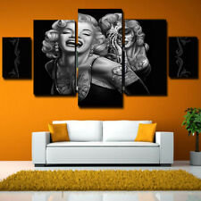 5PCS Home Room Canvas Marilyn Monroe Wall Decor Art Painting Picture Print Gray