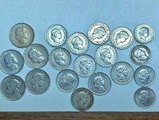 20 HELVETICA (SWITZERLAND) COINS 5, 10, & 20,  1919-1971